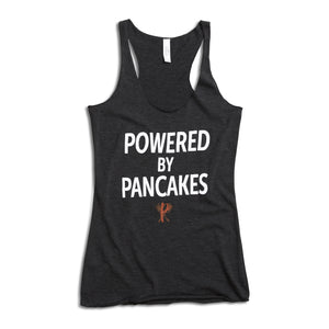 Full-length Powered by Pancakes Tank Top GREY