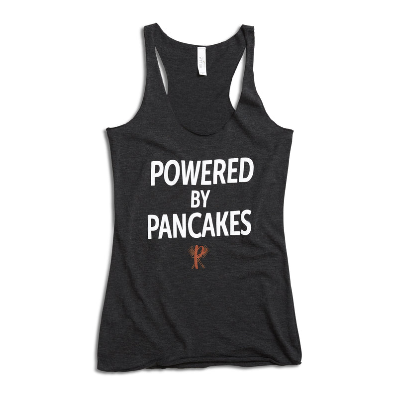 Women's Full-length Powered by Pancakes Tank Top GREY