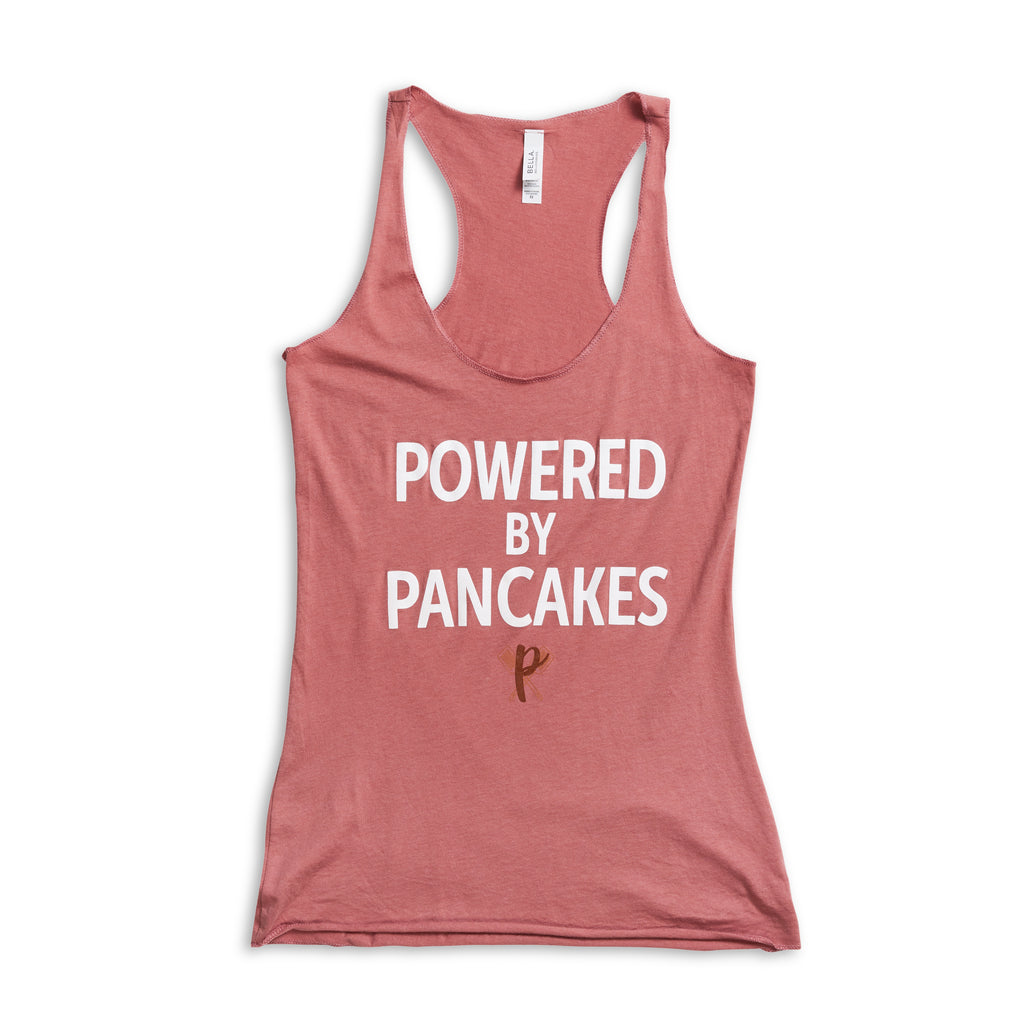Women's Full-length Powered by Pancakes Tank Top PINK