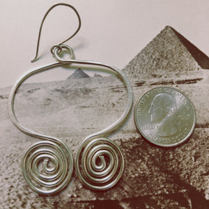 Owl Eye Hoop Earrings