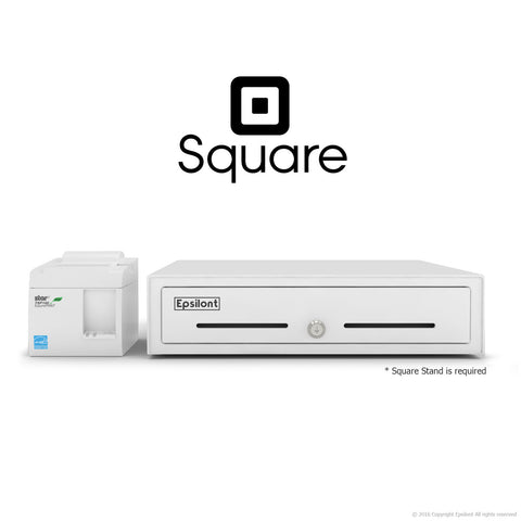 SQUARE POS REGISTER BUNDLE - STAR TSP143IIU ECO USB Receipt Printer and Epsilont Cash Drawer