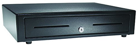 "APG VB554A-BL1616 Vasario Series Standard-Duty Painted-Front Cash Drawer with USBPro II USB Interface, 24V, 16.2"" x 4.3"" x 16.3"", Black"
