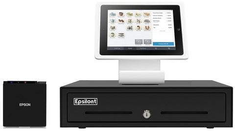 "MINI SQUARE REGISTER BUNDLE - Square Stand, Epson TM-M10 2"" Compact Receipt Printer and 13"" Epsilont Cash Drawer"