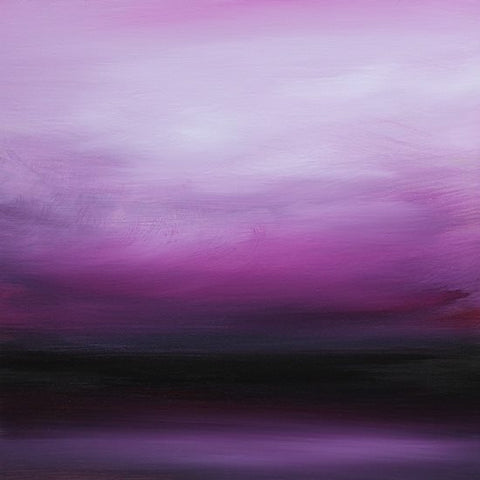 purple rain abstract landscape painting featured on Saatchi Art