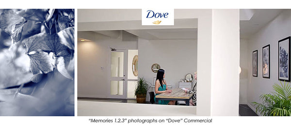 art on dove add, commercial