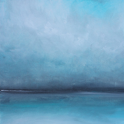 ocean, abstract turquoise painting