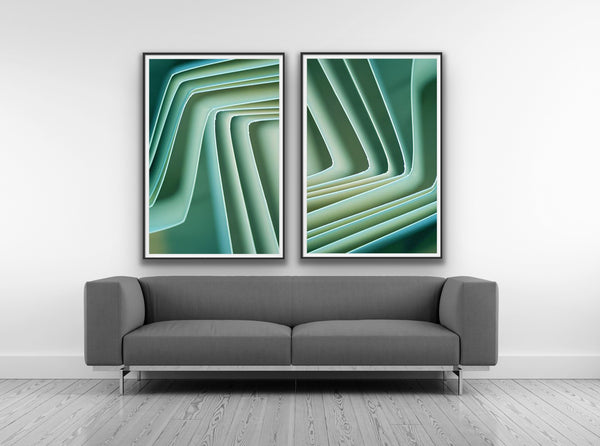 Geometric Love -Green 2
