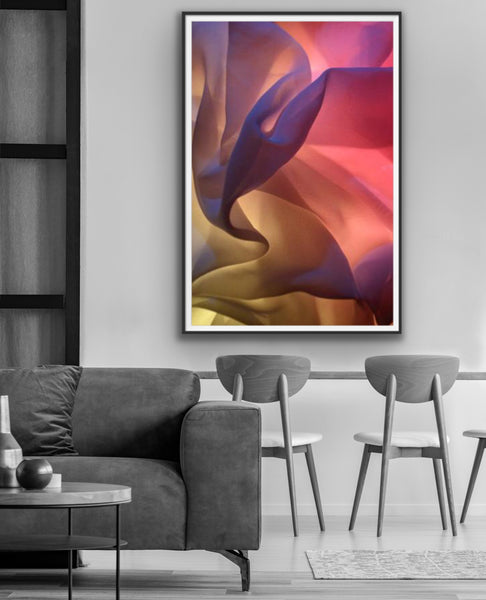 Art for interior design, abstract vibrant photography for sale