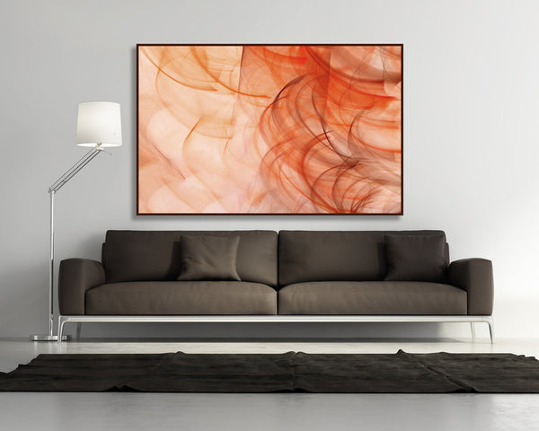 abstract orange art, abstract photography, luxury art, interior decor, interior design