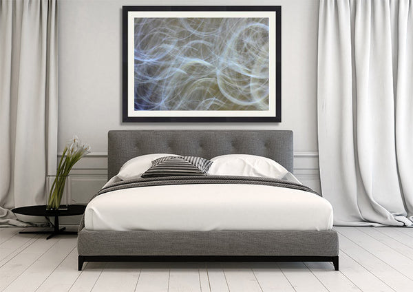 gray waves, abstract photography for sale, art for interior design