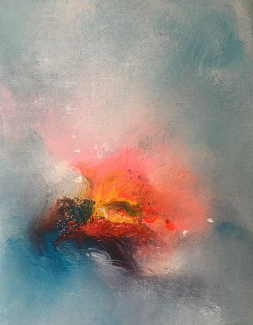 contemporary ethereal landscape, abstract landscape painting, for sale