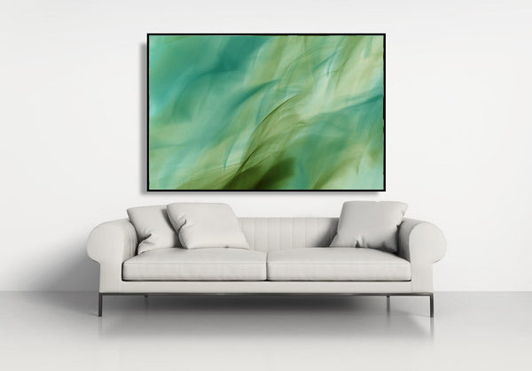 green abstract print, abstract photography, green art, art for interior decor, art for hospitality, art in interior