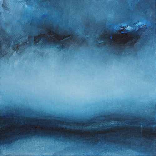 abstract landscape, abstract blue painting, landscape