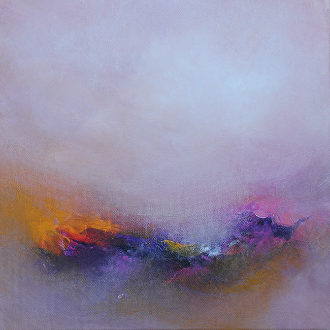 morning painting, abstract landscape, original painting, ethereal landscape