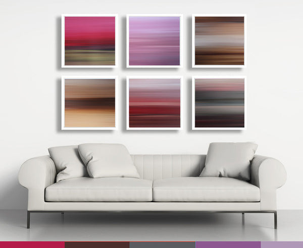 pink art, art in interior, square art for sale