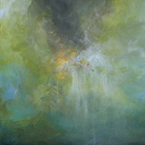 abstract painting for sale, green painting, ethereal art, heavenly art