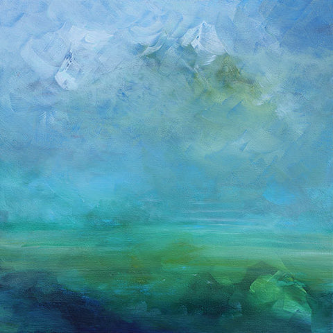 abstract painting, green landscape, art for sale, artwork for sale, home decor
