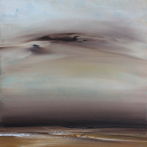 brown abstract landscape, painting, contemporary landscape, brown painting