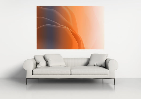 interior design, orange art