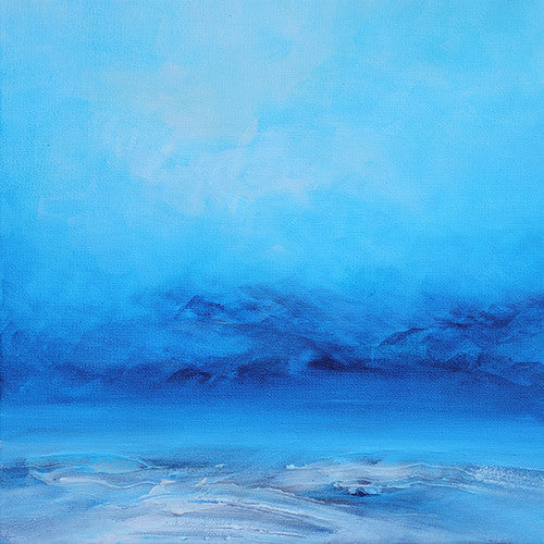 blue landscape, surreal paintig, abstract landscape painting, art for sale