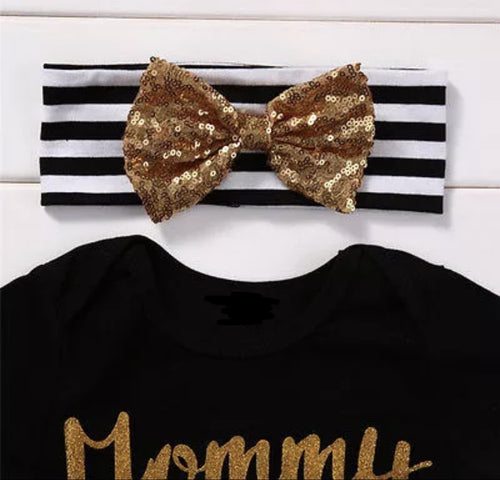 black and gold baby shirt