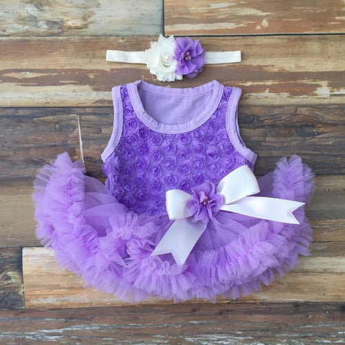 Purple Baby Dress. Tutu Dress. baby Girl Dress