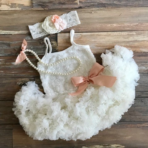 1st birthday outfit. Baby Tutu Dress. Baby Picture Outfit