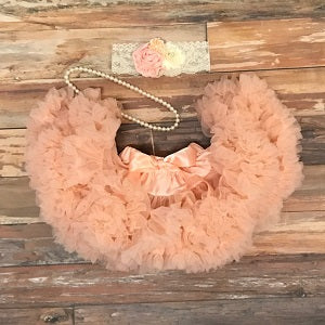 peach petti skirt