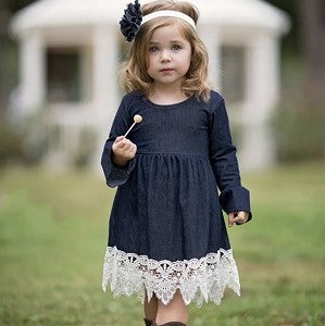 toddler girl denim dress