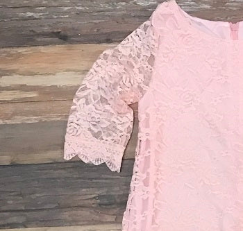 The TIffany lace dress - PINK
