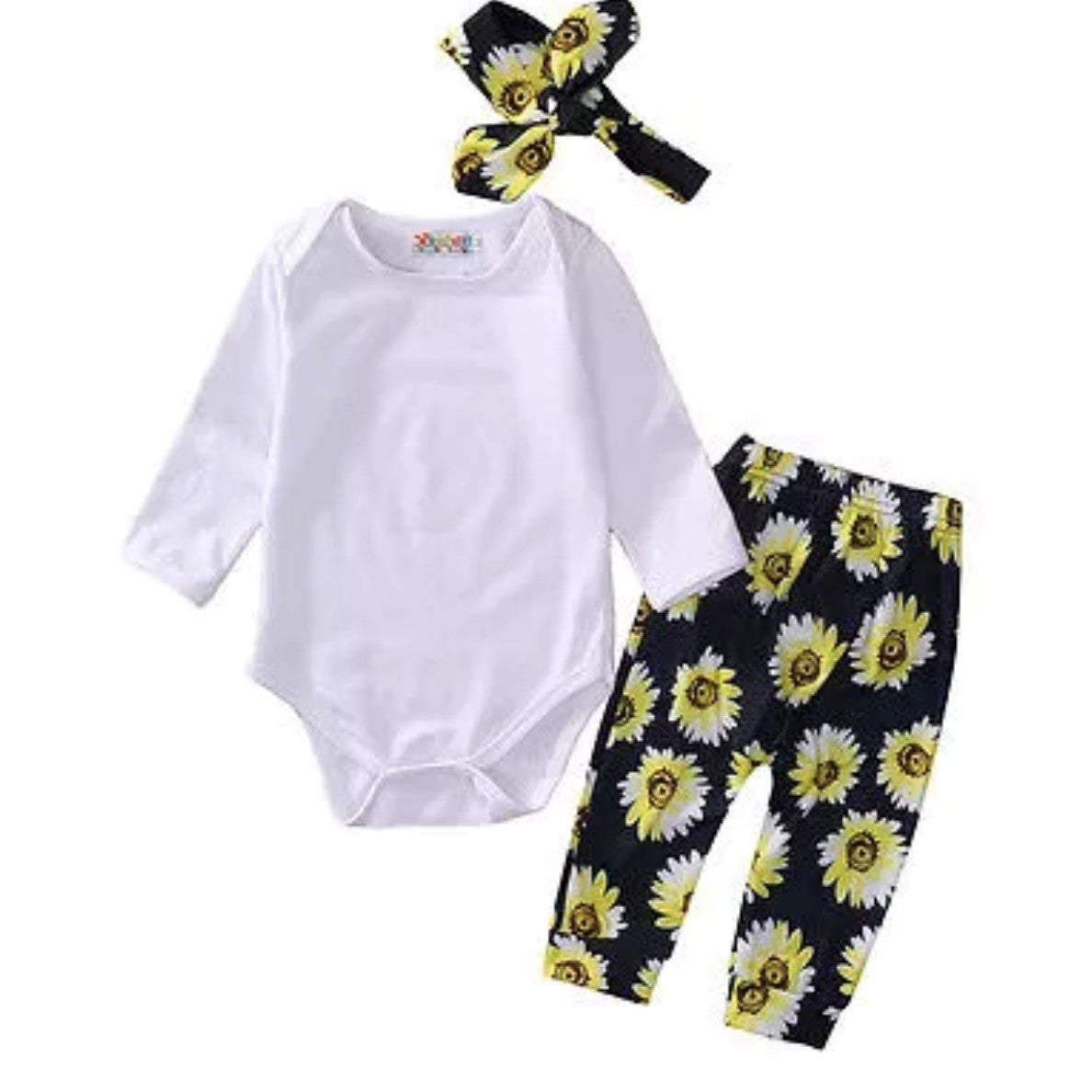 c7a09fa09b9 Baby Girl Sunflower Outfit l Cute Girls Outfit