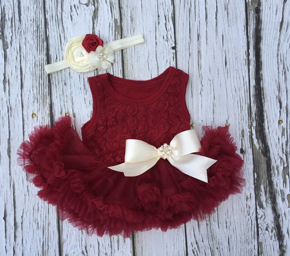 Red Baby Dress Baby Tutu Dress Baby Girl First Christmas