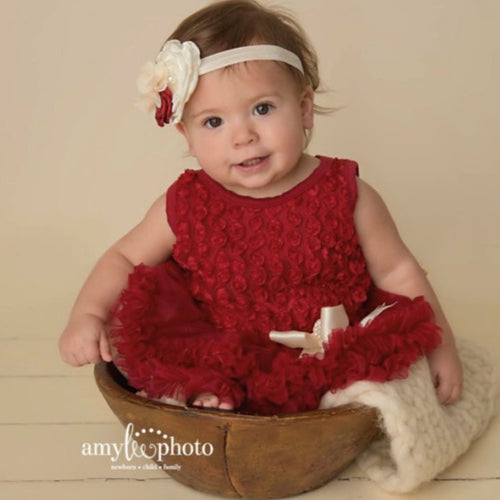 Baby Girl Christmas Dress.  First Chistmas. Red Baby Dress.