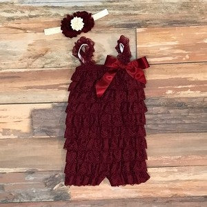 Feathered Ruffled Romper