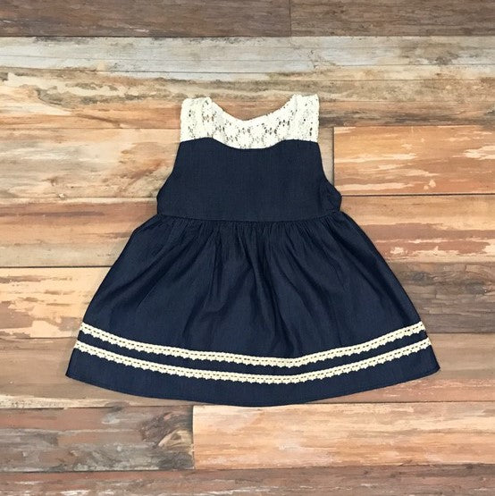 d2f8ff4902 Baby Girl Denim Dress. Kadees Kloset. Dresses For Baby Girls