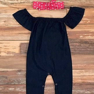 Baby girl denim outfit