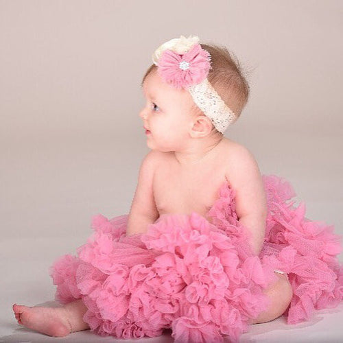 petti skirt.  dusty rose tutu. baby girl first birthday outfit