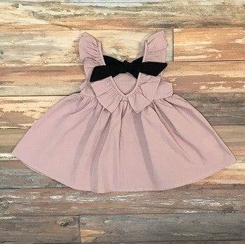 girls dusty rose dress