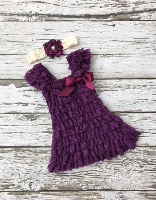 Purple Girls Dress. Toddler Purple Lace Dress