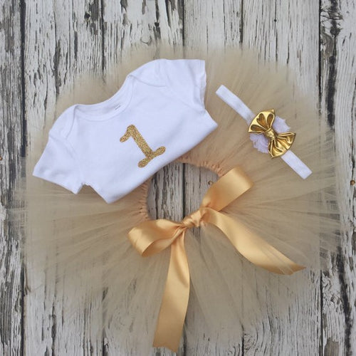 Gold First Birthday Tutu