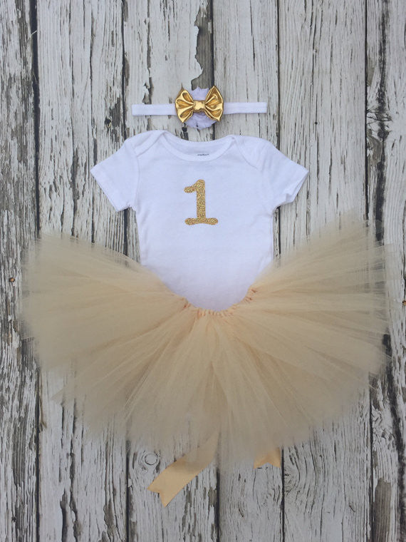 Sparkling gold tutu set