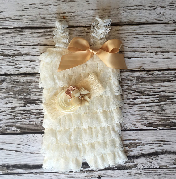 The Princess Gold Romper