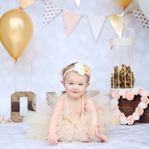 First birthday Tutu. Gold Tutu. Baby Girl Gold Tutu Outfit