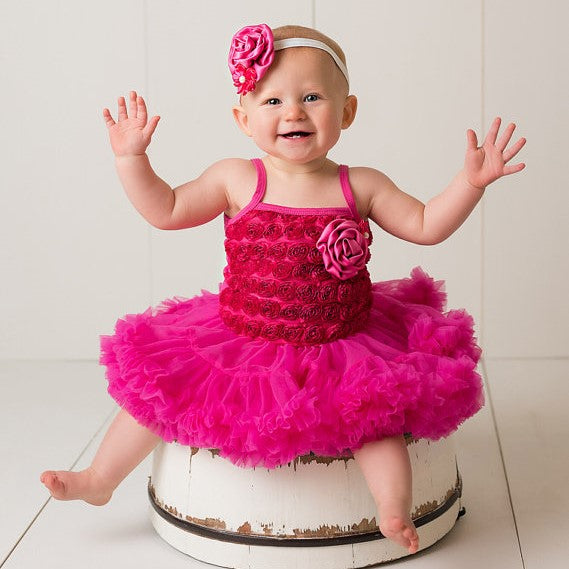 Tutu Dress. Hot Pink Birthday Outfit