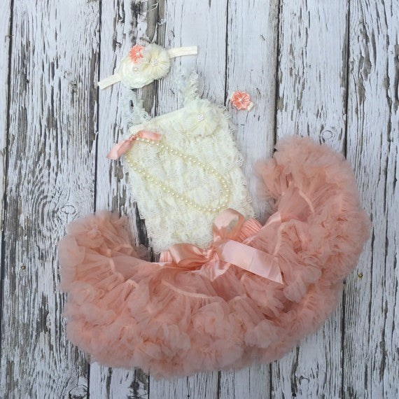 Baby Girl First Birthday Outfit. Tutu Dress