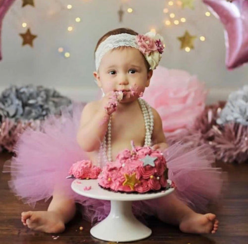 Dusty rose tutu and headband set