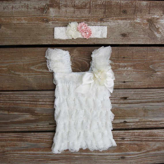Newborn Dress. Infant Lace Dress.