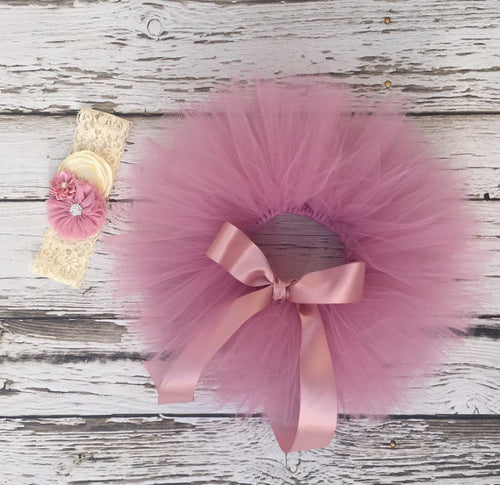 dusty rose tutu