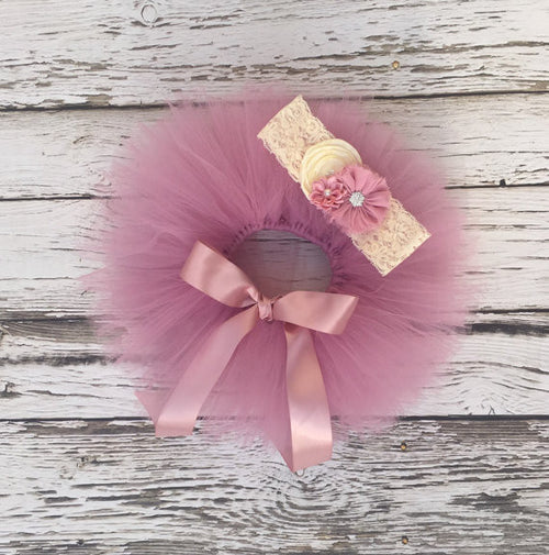 Newborn Tutu. Baby Tutu. Infant Tutu skit. Dusty Rose Baby Tutu