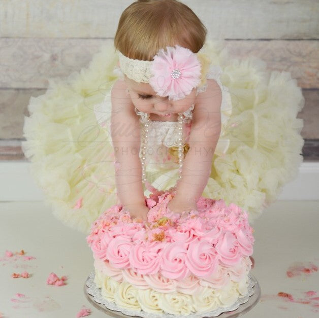 Pink and Gold Birthday Outfit. Baby Girl Birthday Tutu